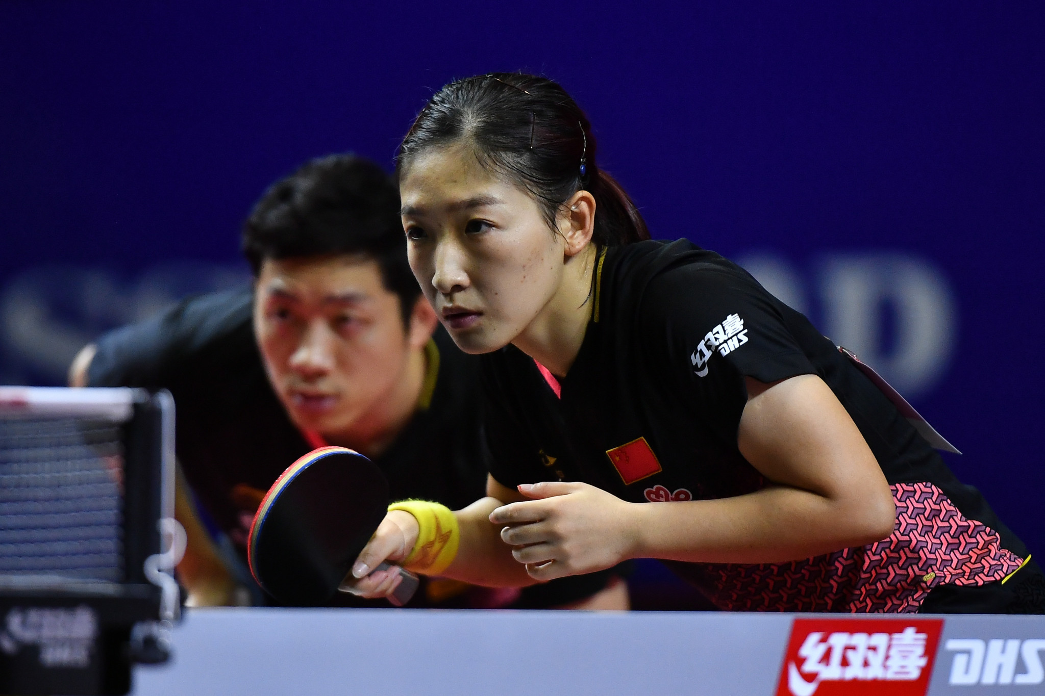 Men's world number one Xu Xin and women's world number two Liu Shiwen won the mixed doubles at the Asian Table Tennis Championships – but results didn't go completely to plan ©Getty Images