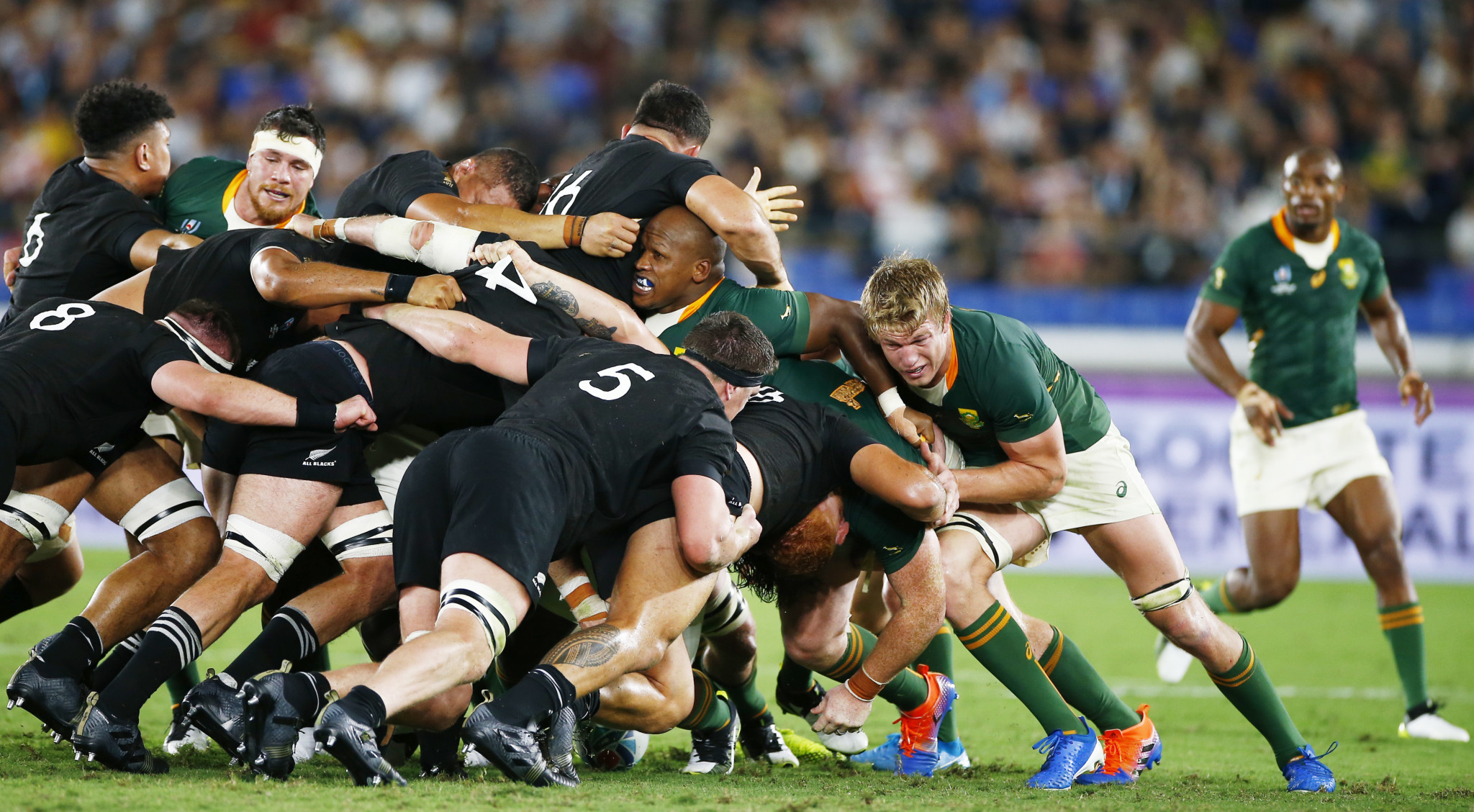South Africa were hugely competitive, but the All Blacks proved too strong ©Getty Images