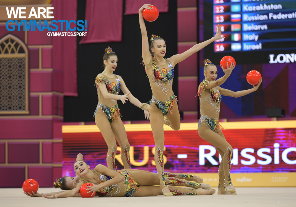 Russia retain group all-around title at Rhythmic World Championships