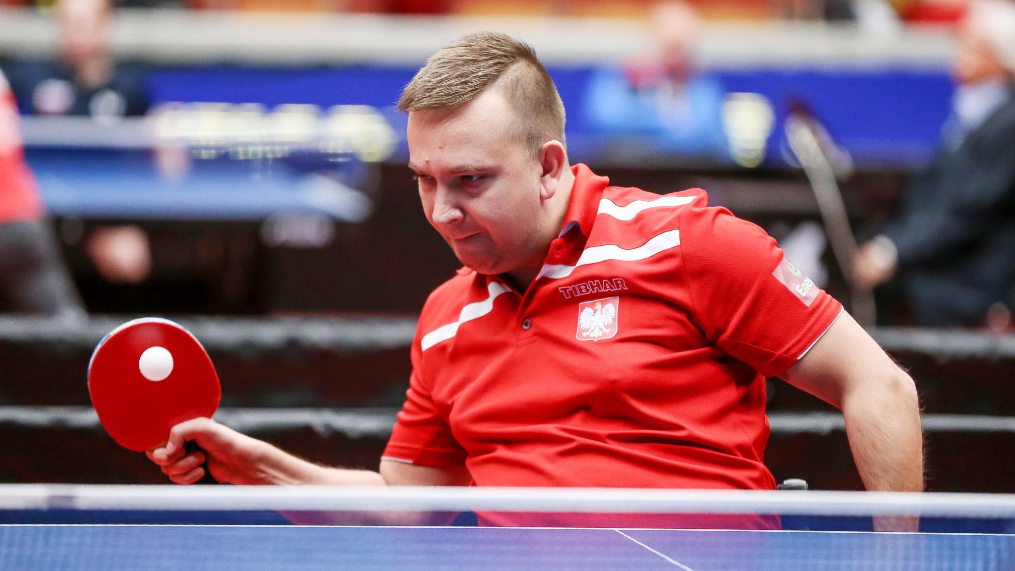 Poland's Rafal Czuper, who with Tomasz Jakimczuk had earlier defeated the Russian second seeds in the class 2 team event at the Para European Table Tennis Championships in Sweden, went out at the semi-final stage today ©ITTF