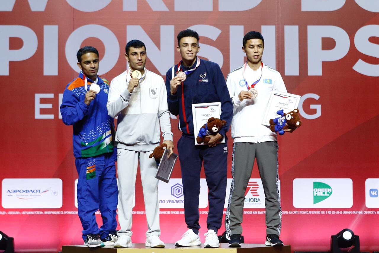 Medals were awarded as the AIBA Men's World Championships came to an end ©Yekaterinburg 2019