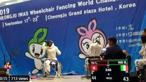 China's domination at the IWAS Wheelchair Fencing World Championships in Cheongju came to an end ©IWAS