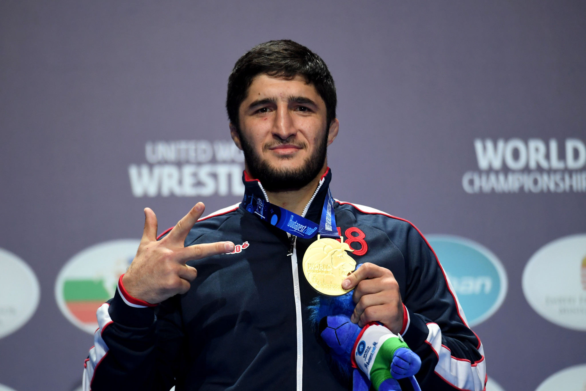 Russia's Abdulrashid Sadulaev retained his 97kg title at the Wrestling World Championships ©Getty Images