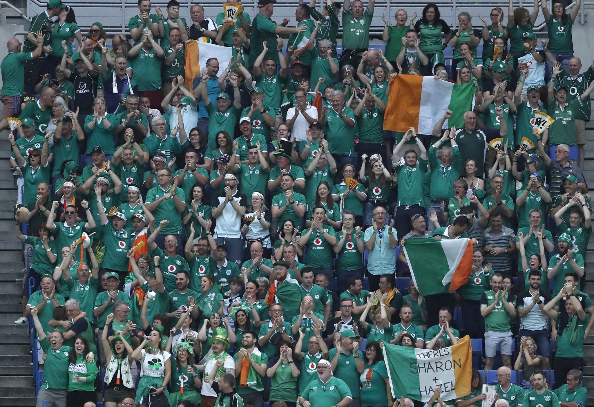 Ireland fans were left delighted by their team's strong start ©Getty Images