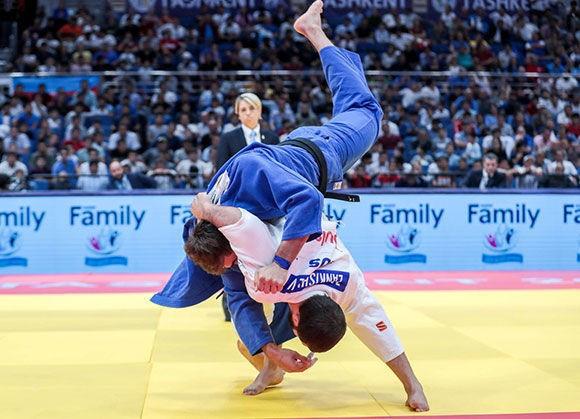 Kazbek Zankishiev won gold in the men's under-100 kilograms category ©IJF