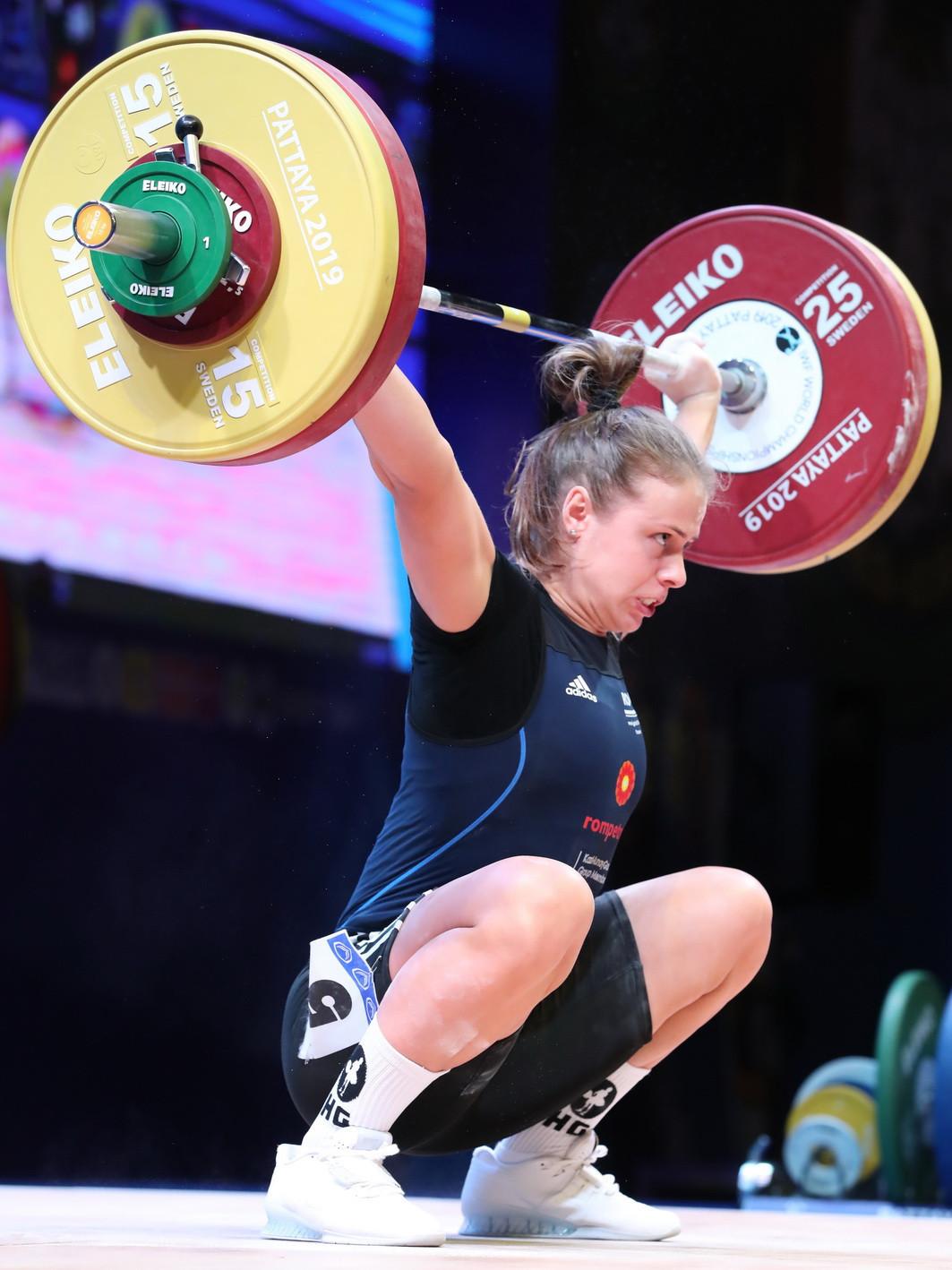 Romania's Loredana-Elena Toma was the bronze medallist in the total ©IWF