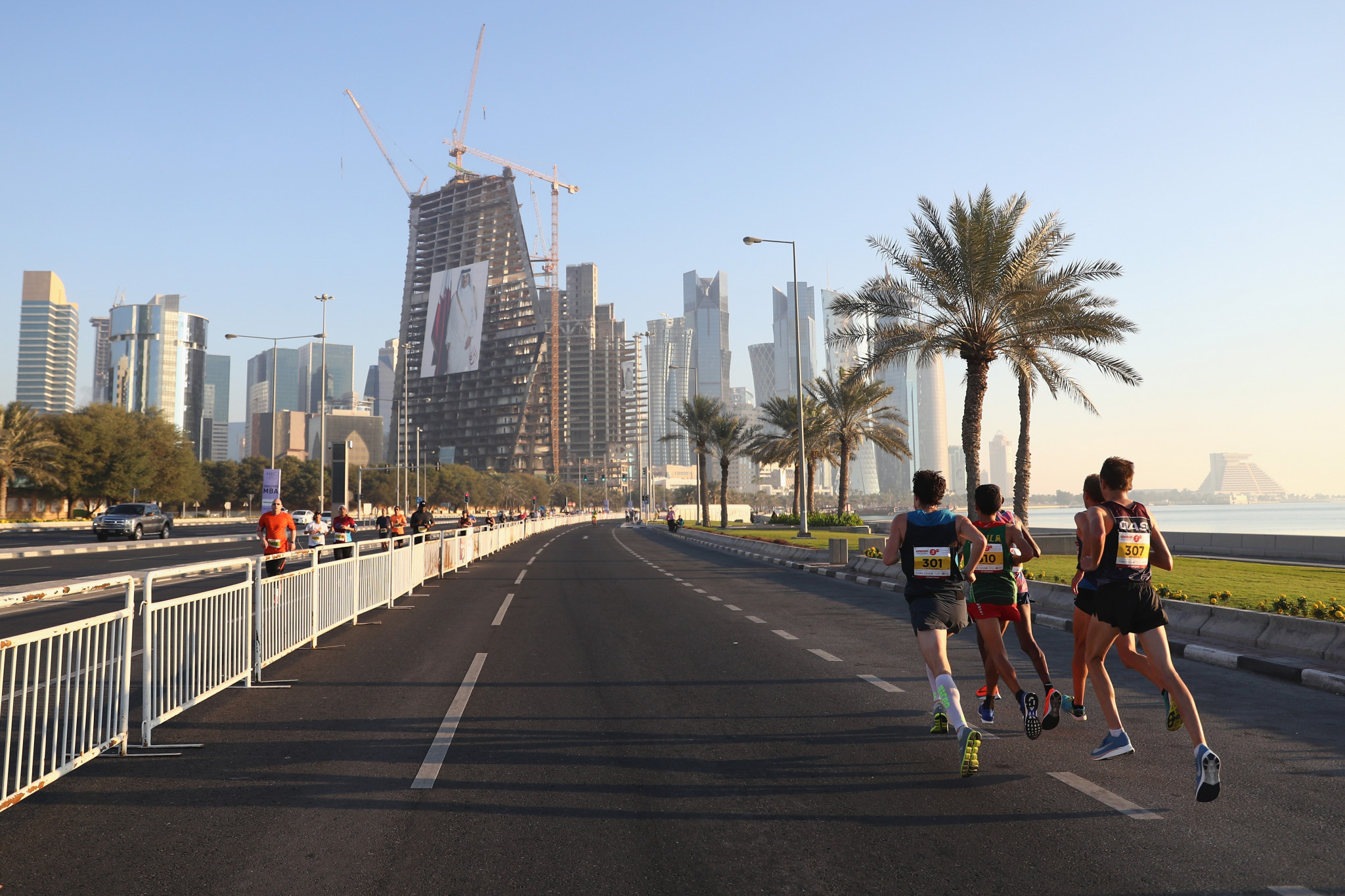 Doha's Corniche, where the IAAF World Championship marathons will soon be held. Hot ©Getty Images