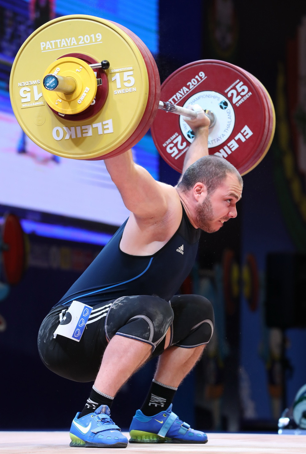 Armenia's Hakob Mkrtchyan triumphed overall in a highly-competitive men's 89kg event ©IWF