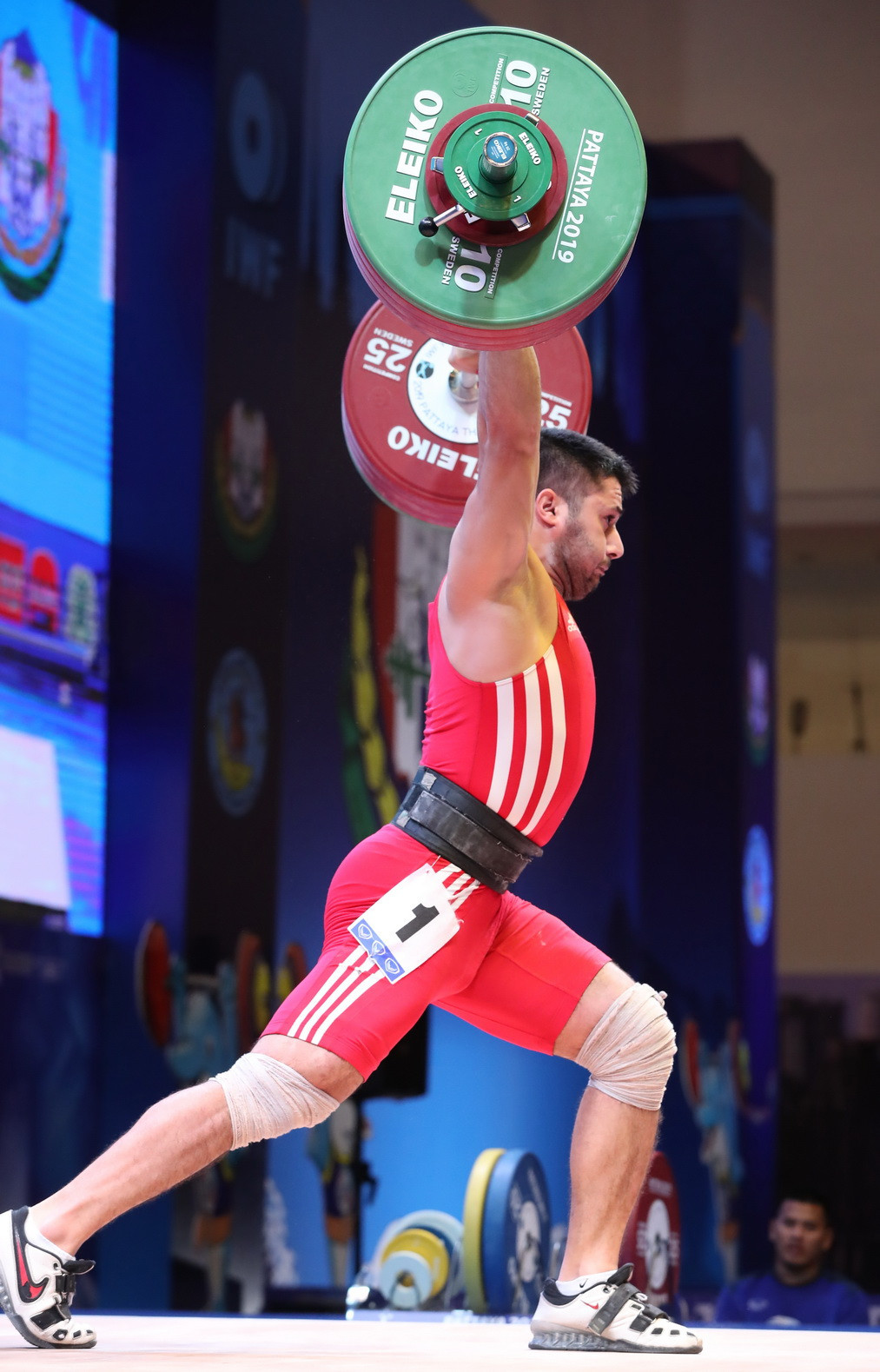 Iran's Ali Miri was the total silver medallist ©IWF