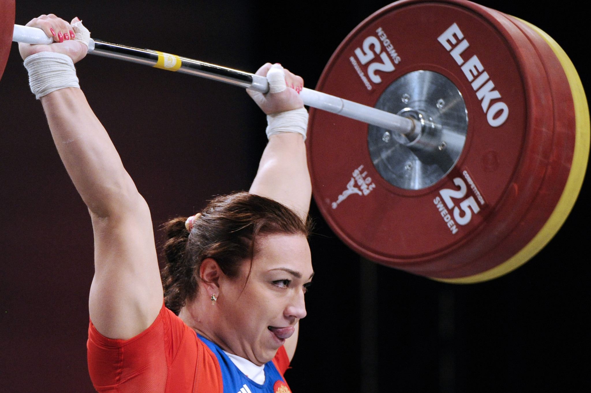 Nadezda Evstyukhina is among the 12 Russian weightlifters provisionally suspended by the IWF ©Getty Images