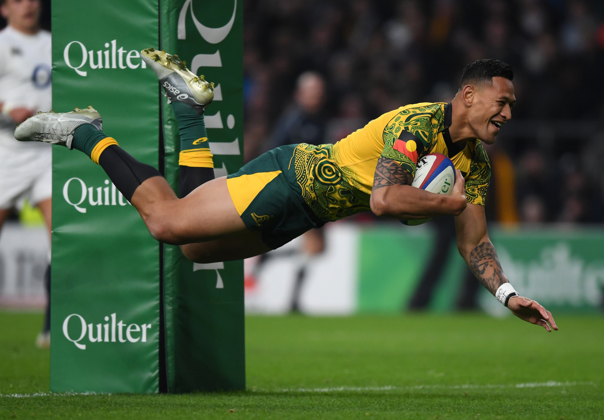 Israel Folau was one of the key players in the Australian rugby union squad before his sacking ©Getty Images