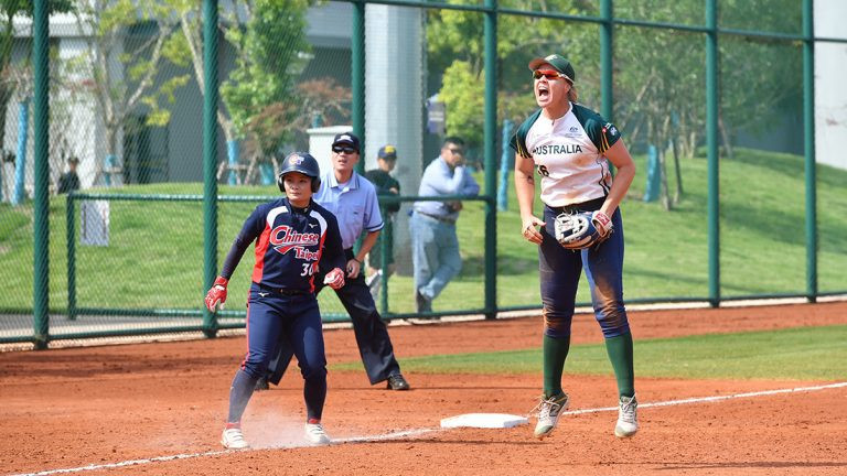 Australia recorded an important victory over Chinese Taipei ©WBSC
