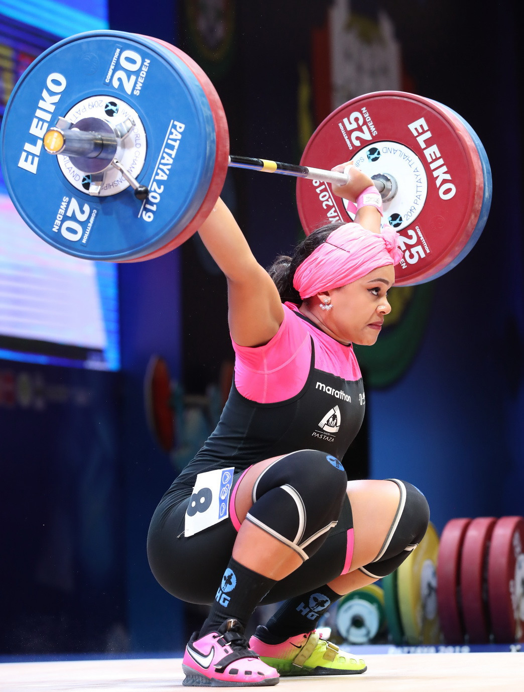 Completing the top three in the total was Ecuador's Neisi Patricia Barrera Dajomes ©IWF