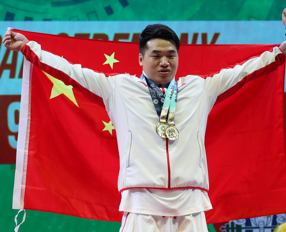 Tian claims maiden global crown with thrilling men's 96kg triumph at IWF World Championships