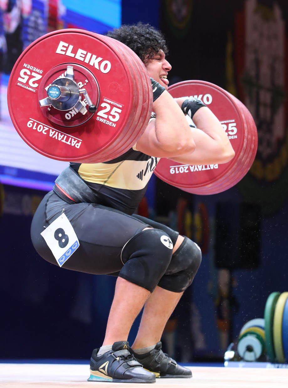 But the Qatari ultimately had to settle for silver medals in both the clean and jerk and total ©IWF
