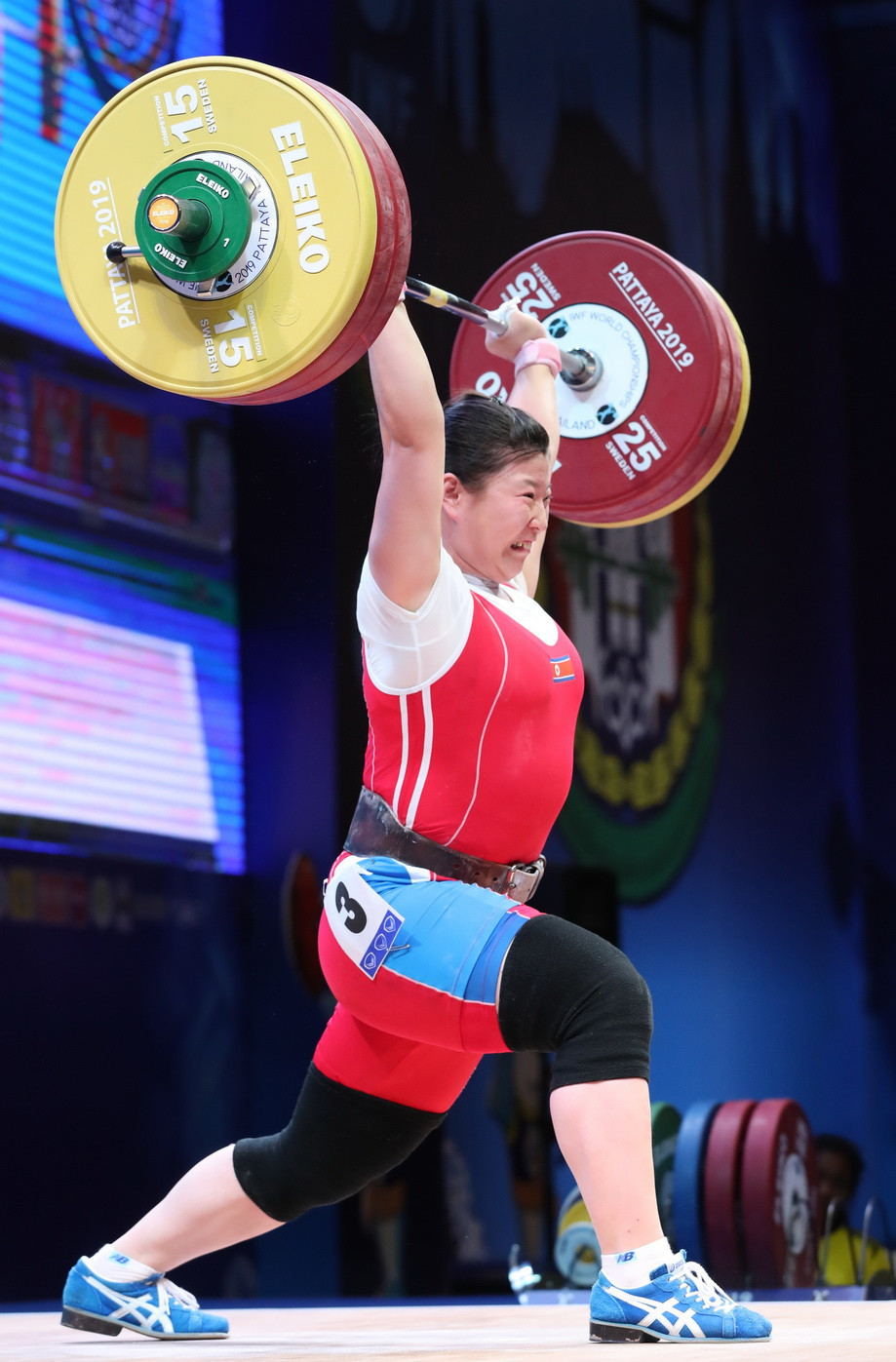 North Korea's Rim Jong Sim eased to overall victory in the women's 76kg event ©IWF