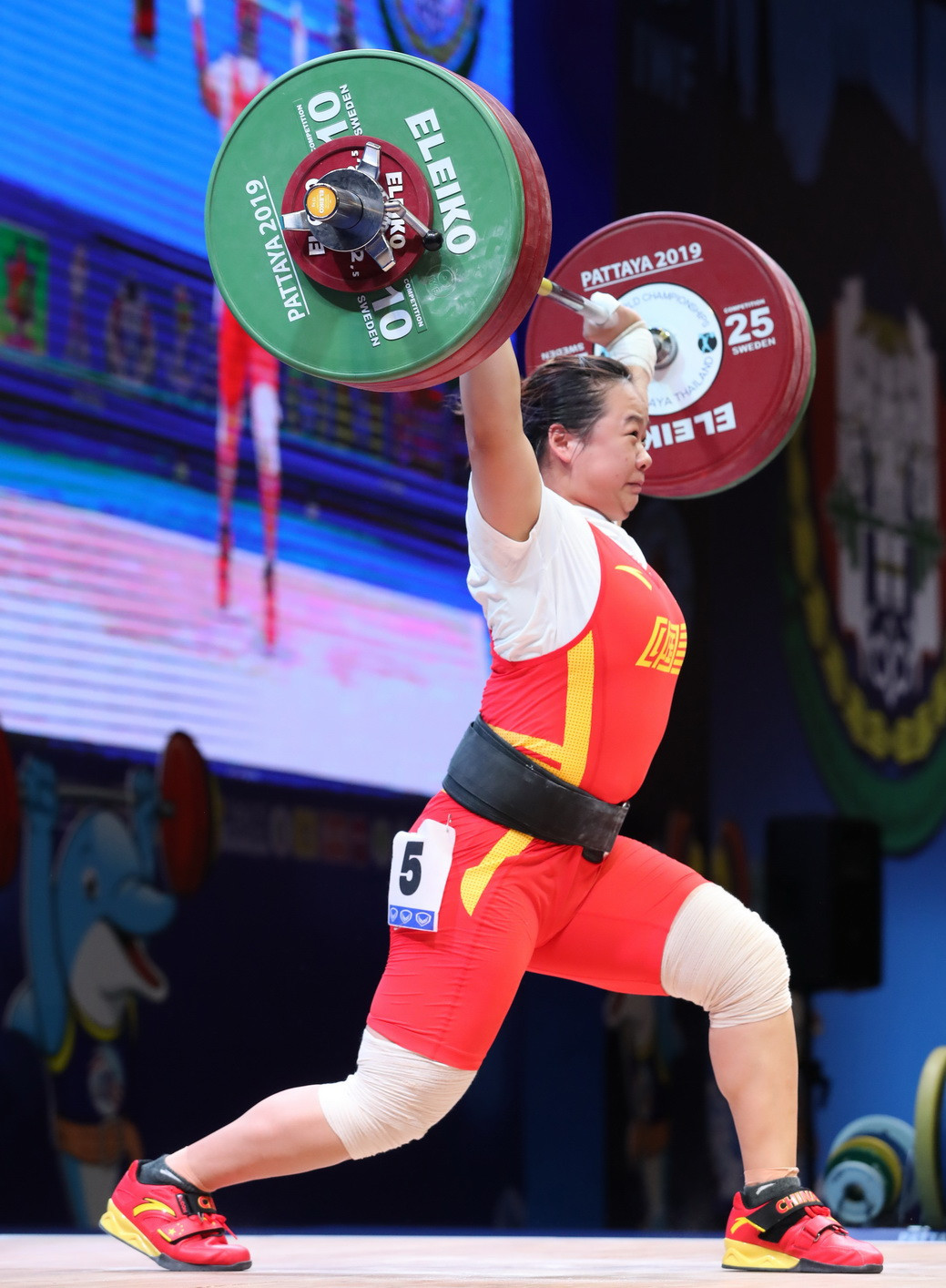 China's Zhang Wangli came second in the snatch and total, but won the clean and jerk gold medal ©IWF
