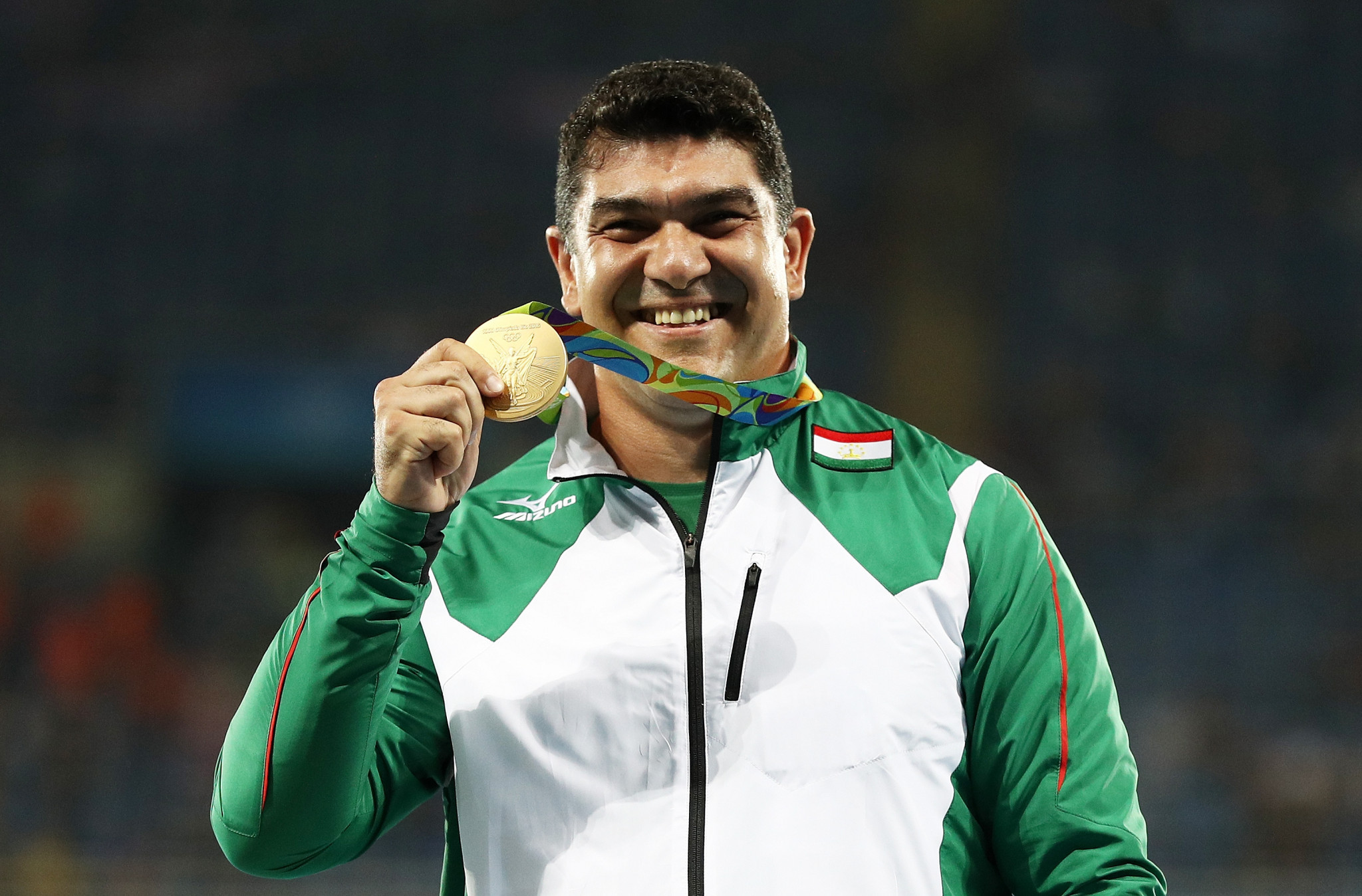 Dilshod Nazarov won Tajikistan's first Olympic gold medal at Rio 2016 ©Getty Images