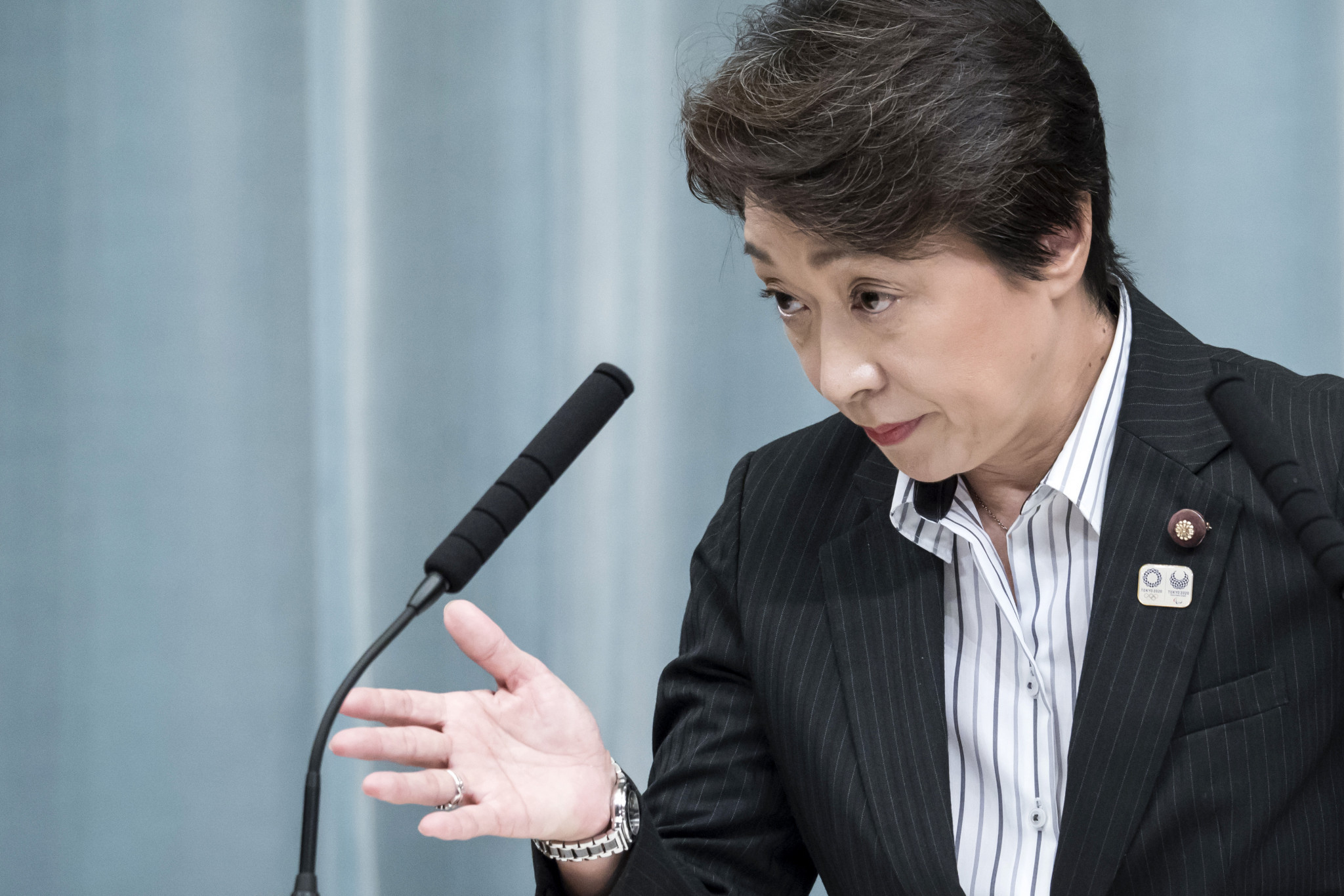 Japan's Olympics Minister Seiko Hashimoto has rejected claims the flag should be banned from Tokyo 2020 ©Getty Images