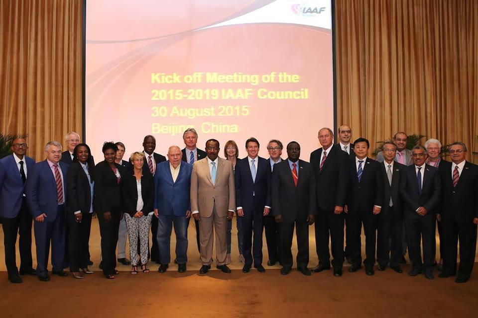 UAE Athletics Federation President Ahmed Al Kamali, third right, was elected as a member of the IAAF Council in 2015 despite allegations that he had offered some voters Rolex watches ©Facebook