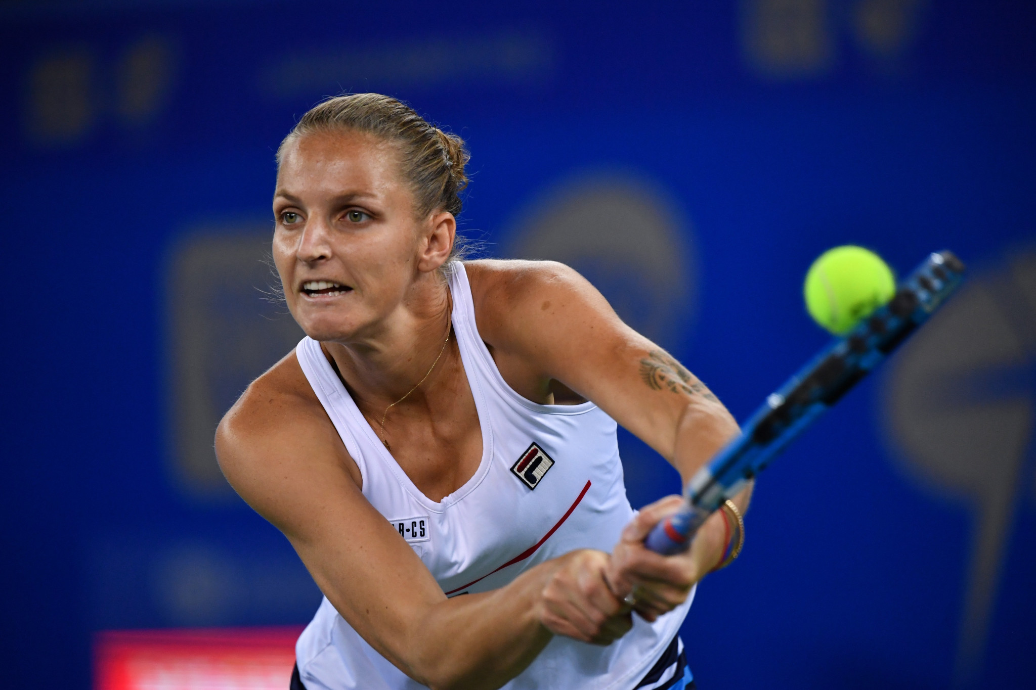 The Czech Republic's Karolína Plíšková suffered a straight sets defeat against Ukraine's Ukraine's Dayana Yastremska and missed the opportunity to claim the world number one position ©Getty Images