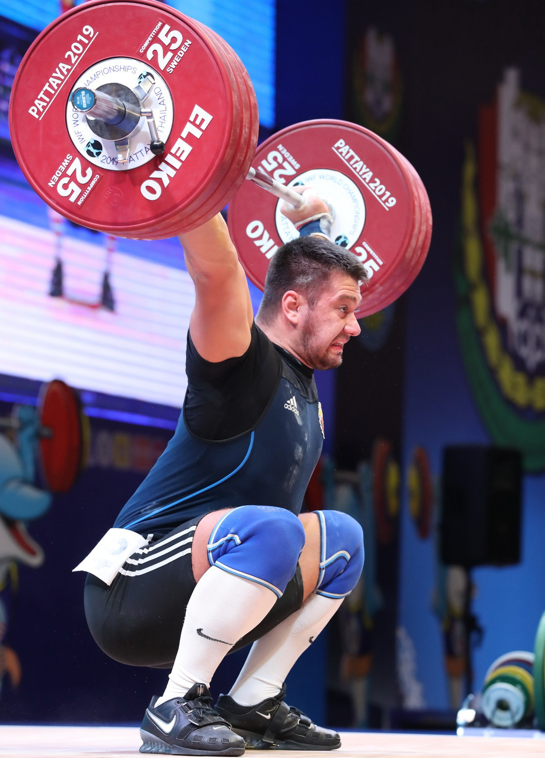 Belarus' Yauheni Tsikhantsou prevailed in a highly-competitive men's 102kg event ©IWF