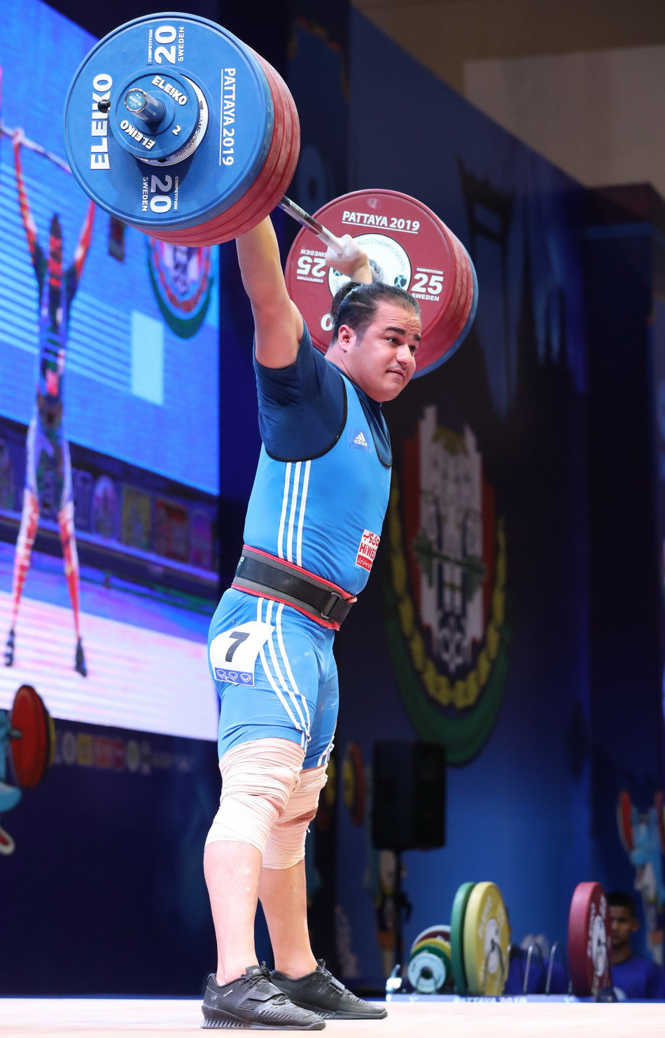 Rounding off the podium in the total was Iran's Reza Dehdar ©IWF
