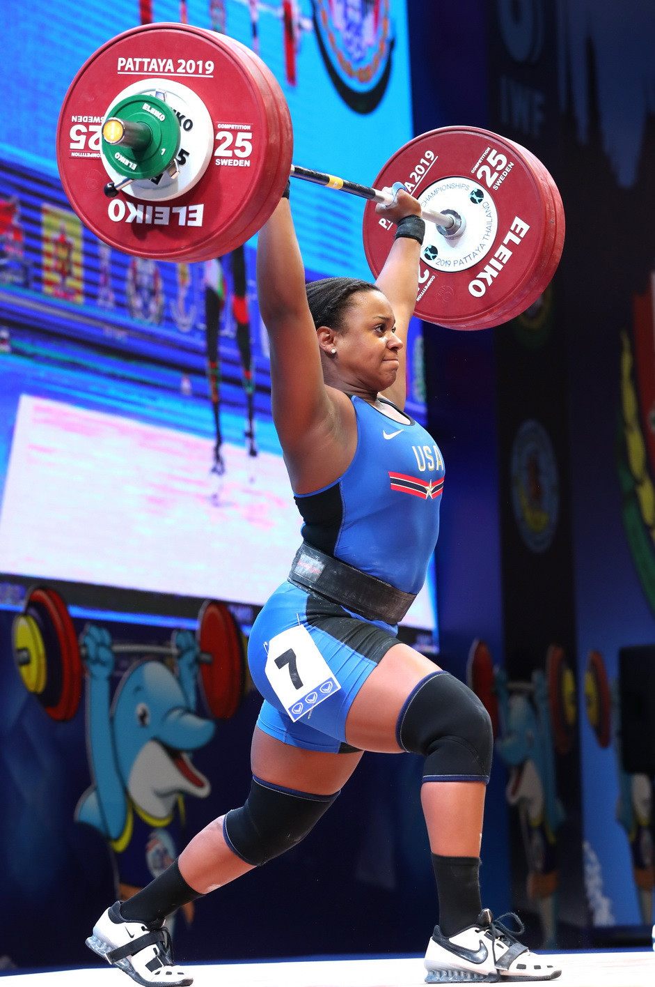 The United States' Jenny Arthur was the overall bronze medallist ©IWF