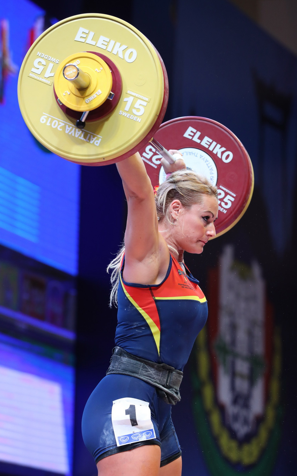 It was 1kg more than defending champion Lidia Valentín of Spain managed ©IWF