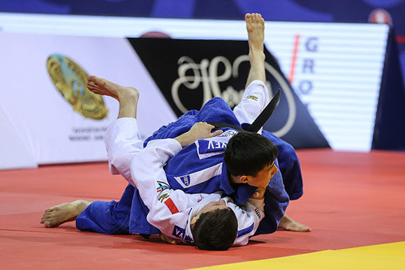 Kazakhstan celebrate home gold medal on opening day of World Judo Championships Cadets