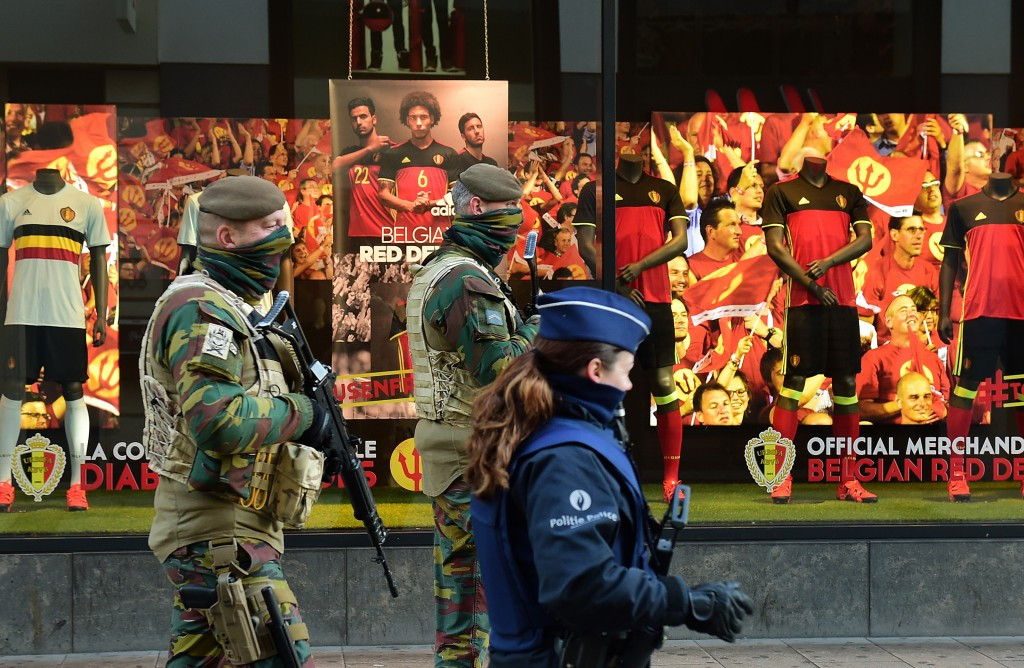 Brussels remains on high alert today