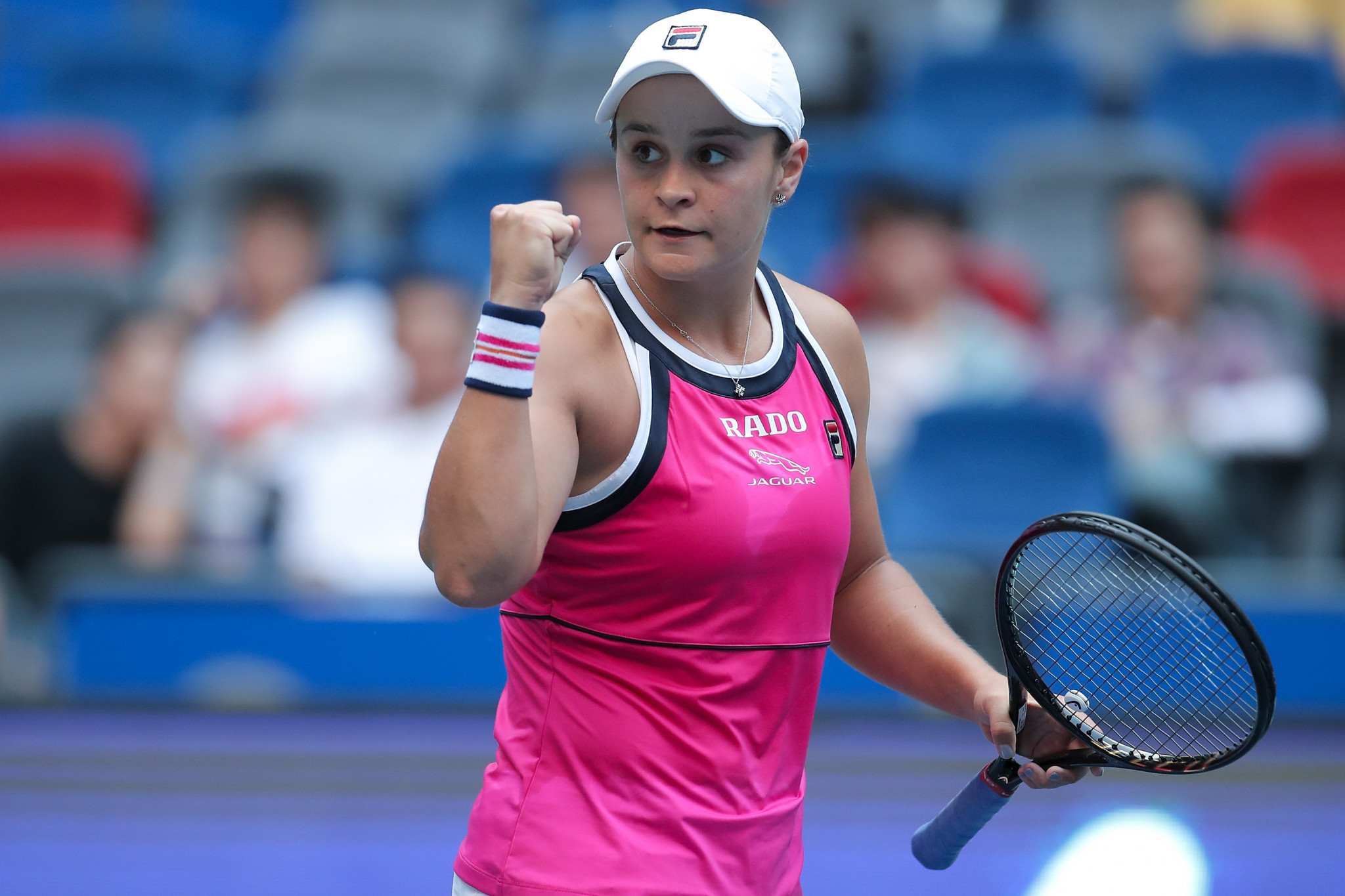 It was hard work, but Ashleigh Barty is in the Wuhan Open last four ©Getty Images