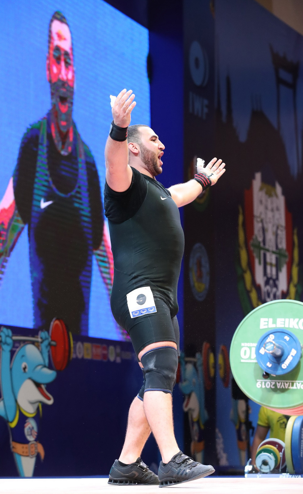 Armenia's Simon Martirosyan successfully defended his men's 109 kilograms title at the IWF World Championships ©IWF