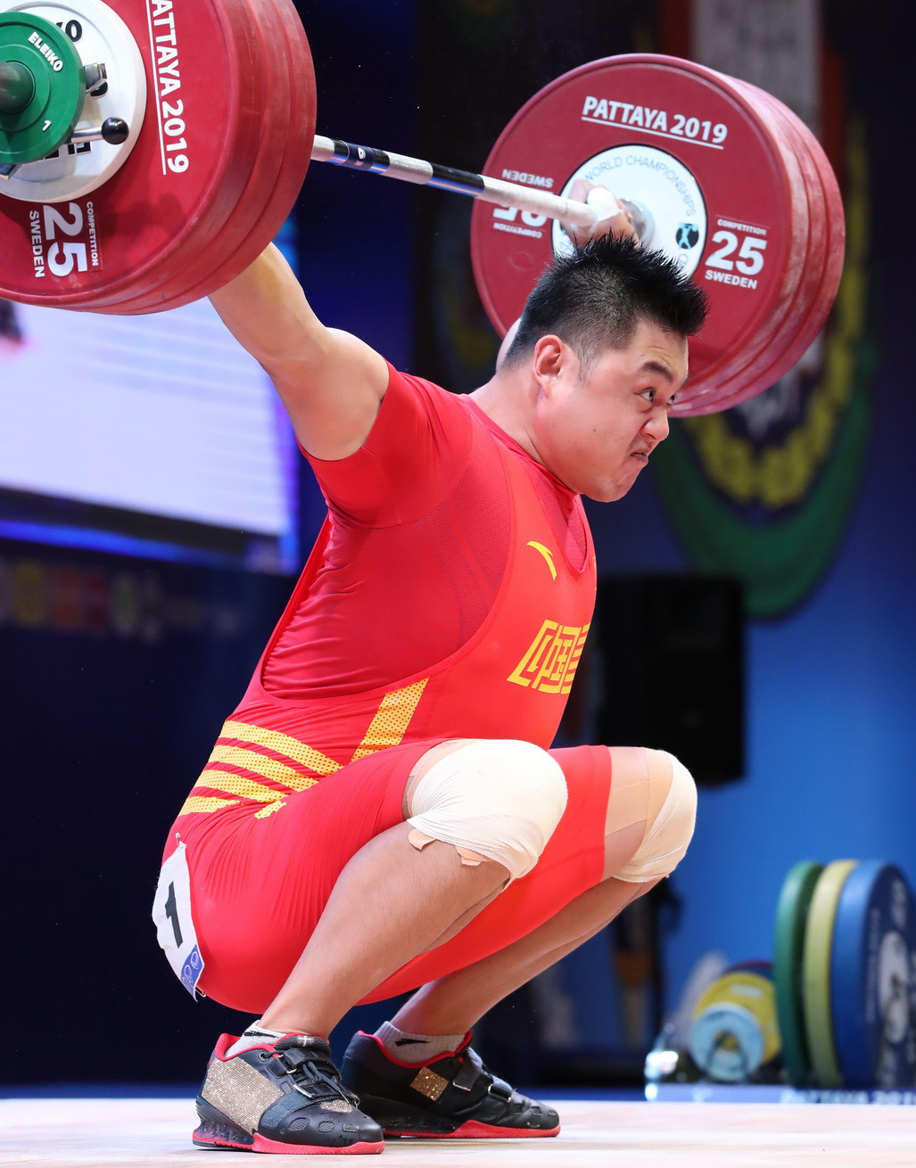 Rounding off the top three was China's Yang Zhe ©IWF