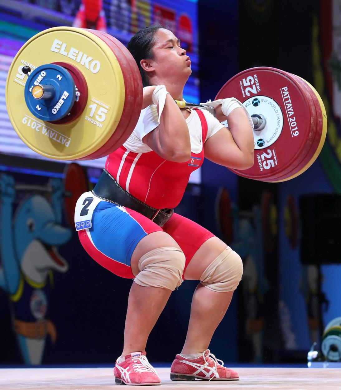 North Korea's Kim Un Ju was the silver medallist in all three events ©IWF