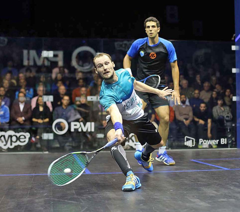 Gregory Gaultier proved too strong for Omar Masaad as he sealed a straight games victory in the final