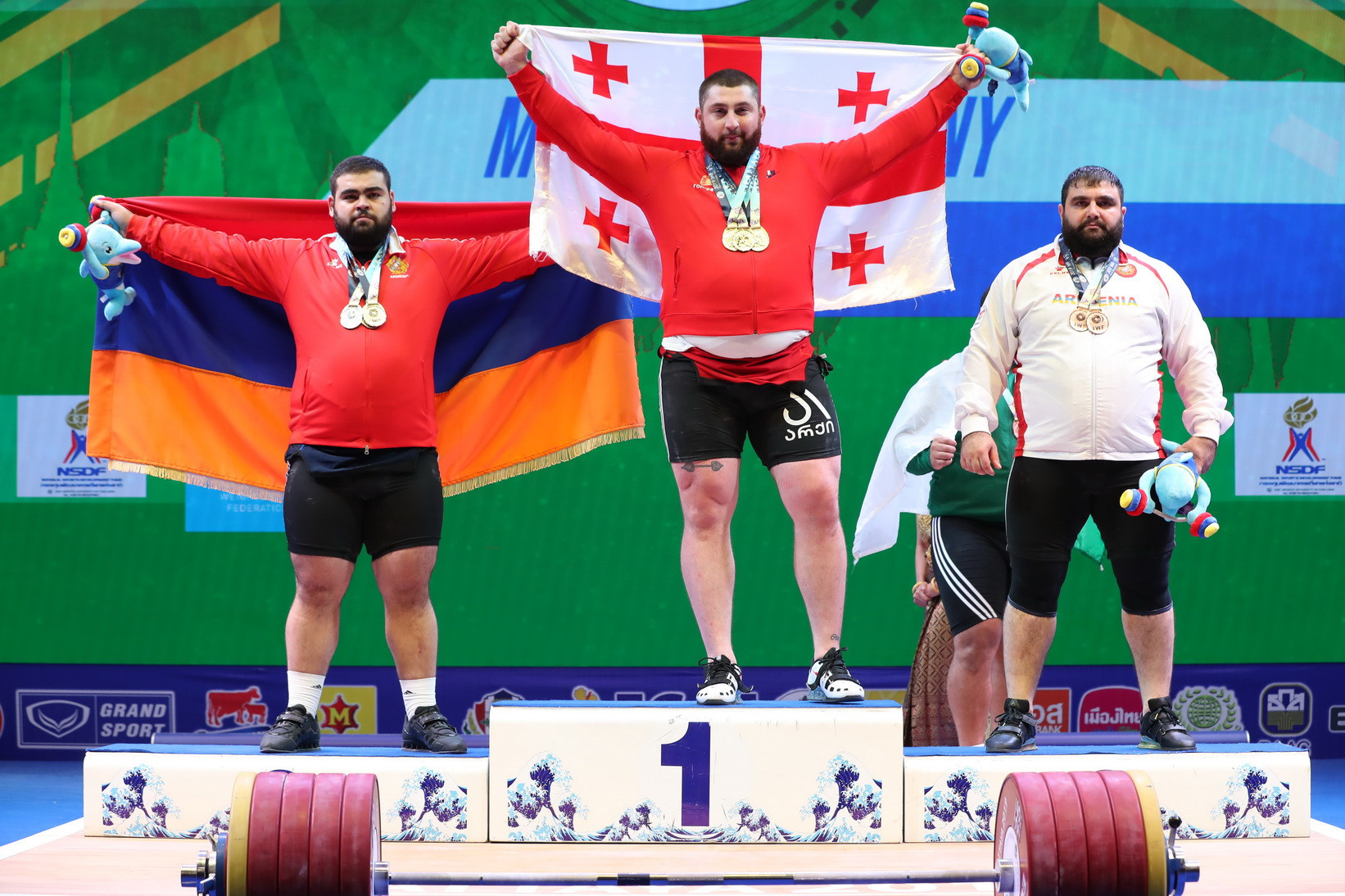 Georgia's Lasha Talakhadze defended his men's over-109 kilograms title in style on the last day of the International Weightlifting Federation World Championships in Thai city Pattaya ©IWF