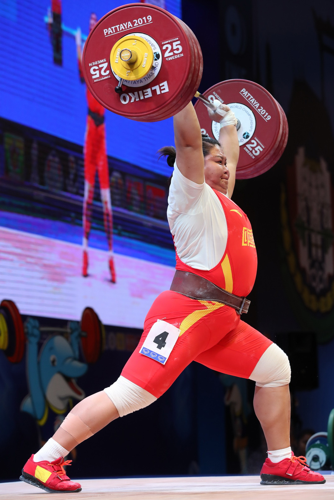 The overall bronze medallist was Rio 2016 Olympic champion Meng Suping of China ©IWF