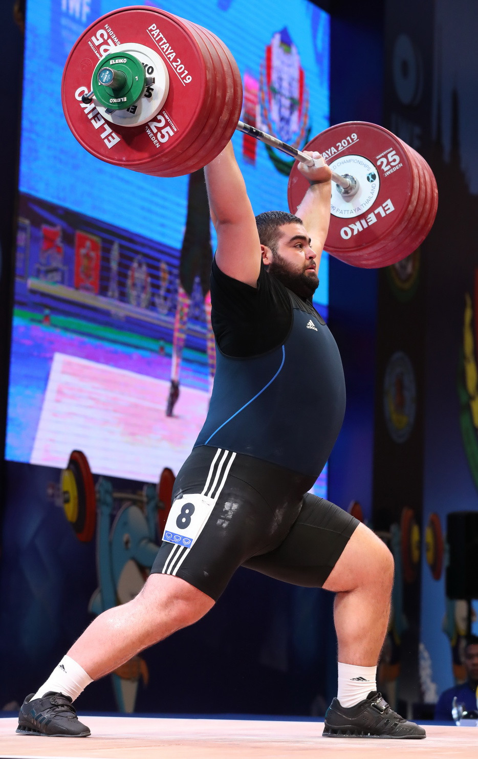 Armenia's Gor Minasyan had to settle for all three silver medals ©IWF