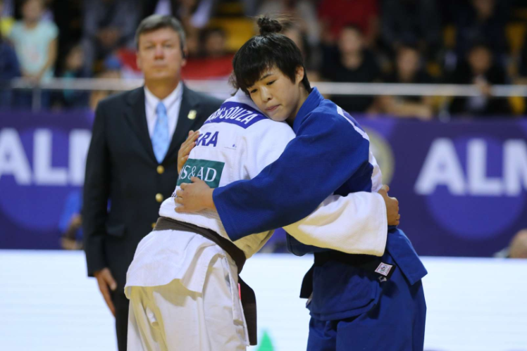 Japan's Eguchi Rin, in her first international competition, won the women's under-57kg ©IJF
