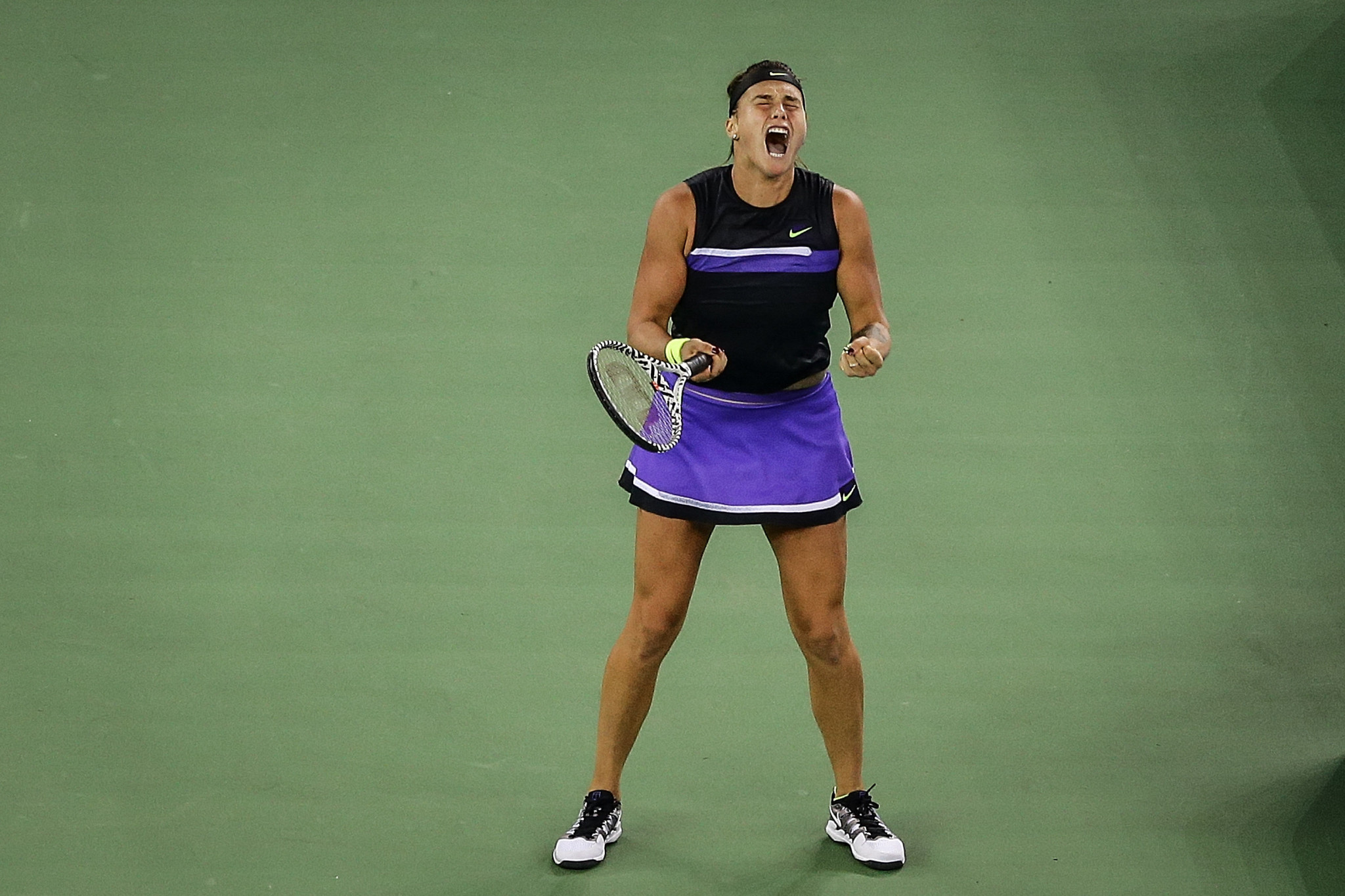 Reigning champion beats world number one to reach Wuhan Open final