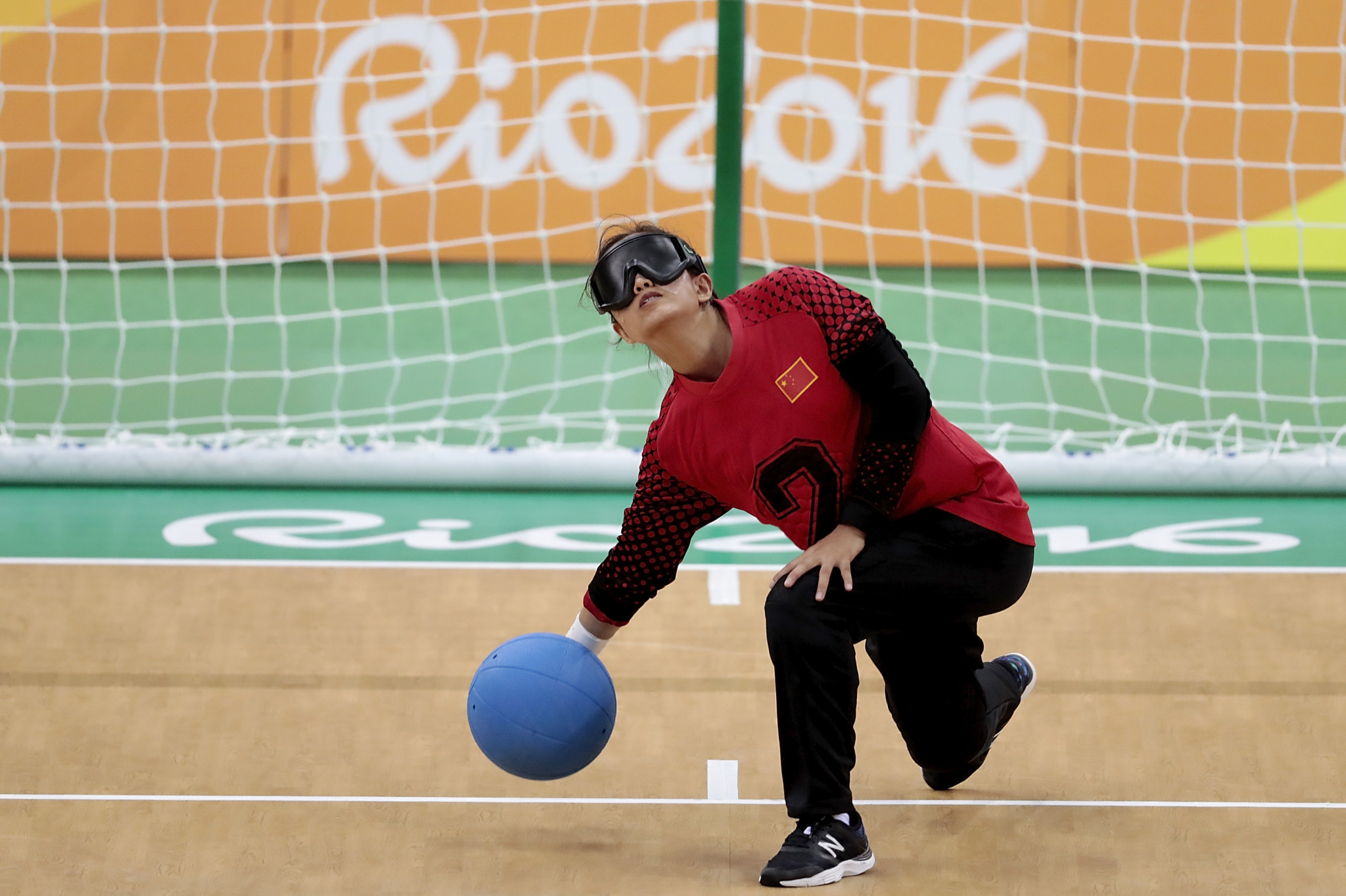 China earned a silver medal in the goalball competition at the Rio 2016 Paralympic Games ©Getty Images