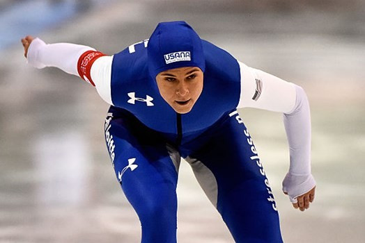 Brittany Bowe was one of the American female speed skaters in attendance for the camp ©Getty Images