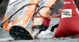 Dutch sailor Lilian De Geus lost her lead at the RS:X World Championships ©RS:X World Championships