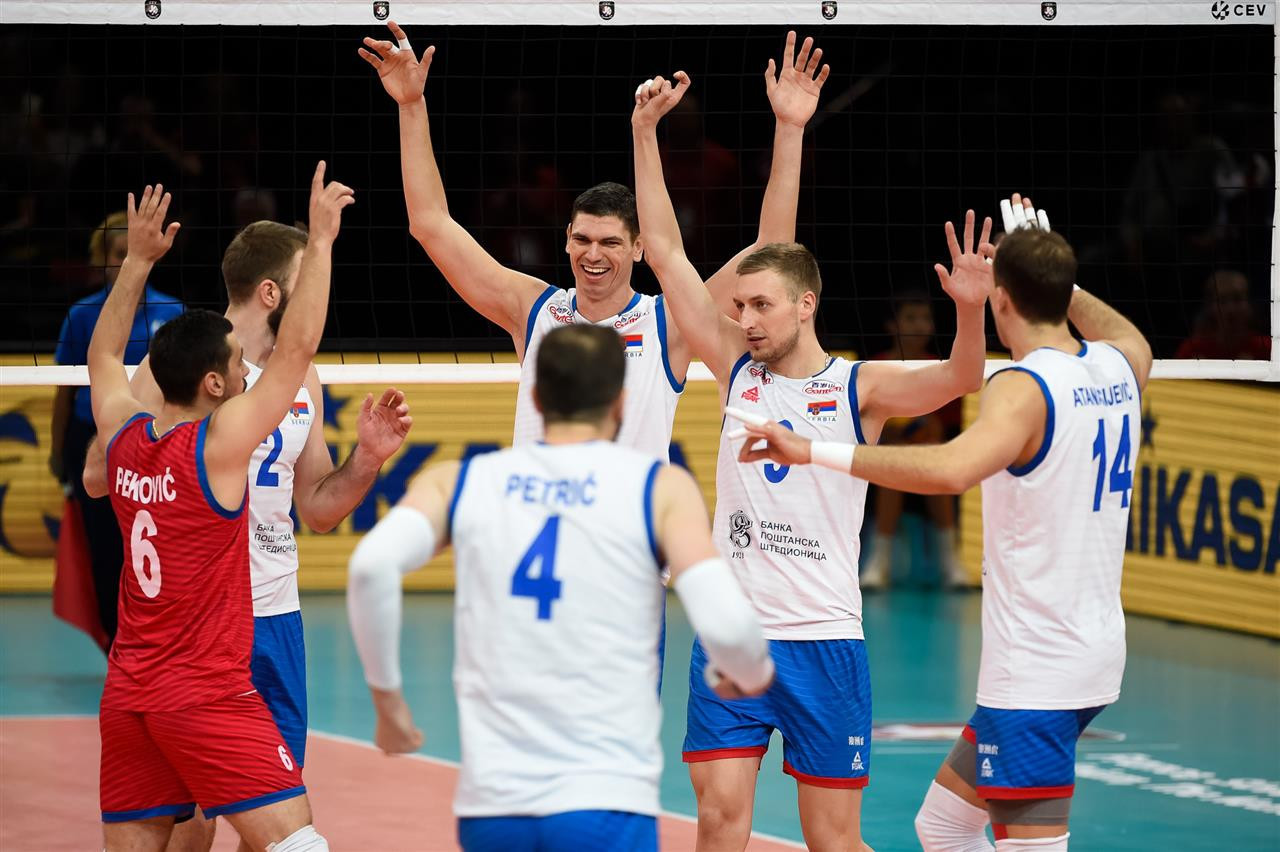 Serbia reach men's European Volleyball Championship final with marathon victory over France
