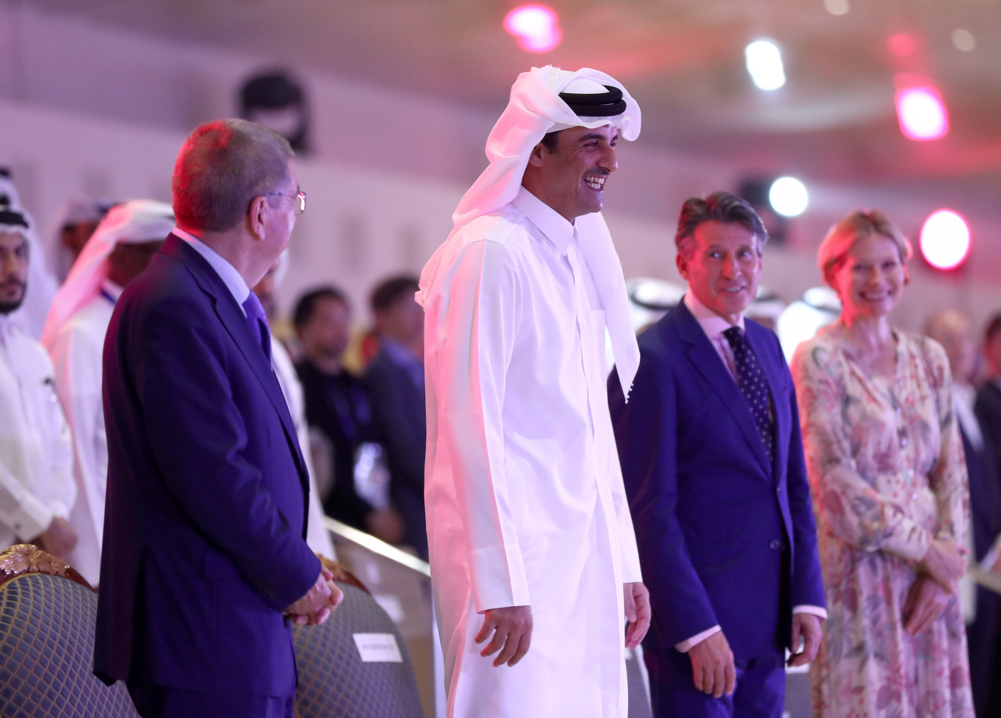 Before the start of the race the Emir had officially opened the Championships at an event attended by IOC and IAAF Presidents Thomas Bach and Sebastian Coe ©Getty Images