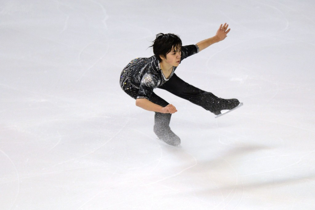 Japan's Shoma Uno, skating in Bordeaux ahead of the Trophee Eric Bompard's cancellation, topped the men's standings ©Getty Images