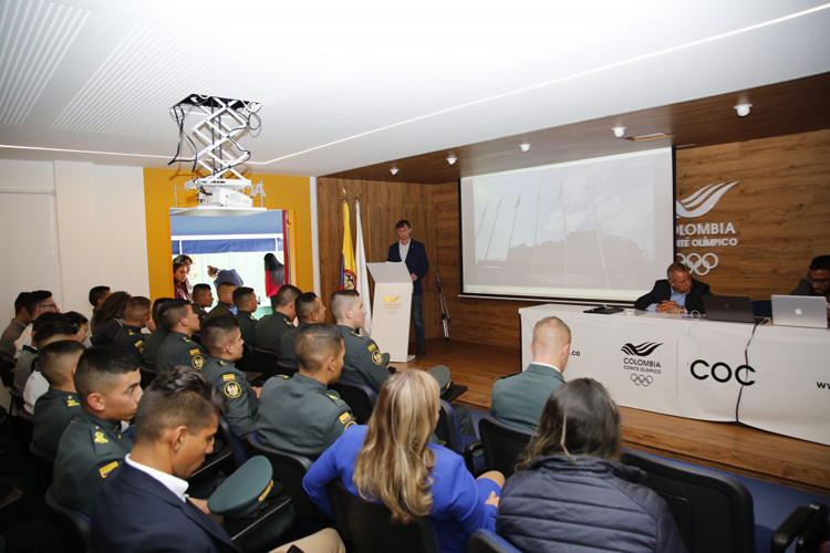 A conference in Bogotá on university sambo brought together students, teachers and special guests from various universities ©COC