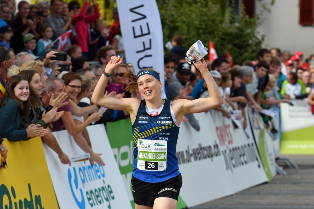 Sweden's Tove Alexandersson continued her domination of women's orienteering with her sixth World Cup victory this season in the knockout sprint in Laufen ©Twitter/IOF