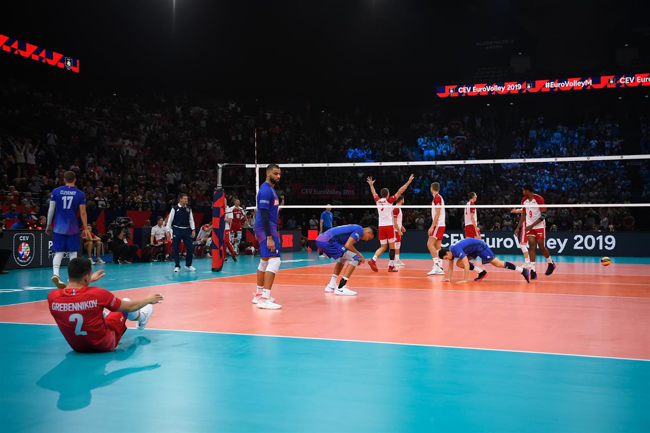 The match was tighter than the 3-0 scoreline suggested with Poland beating France for the bronze medal ©EuroVolley